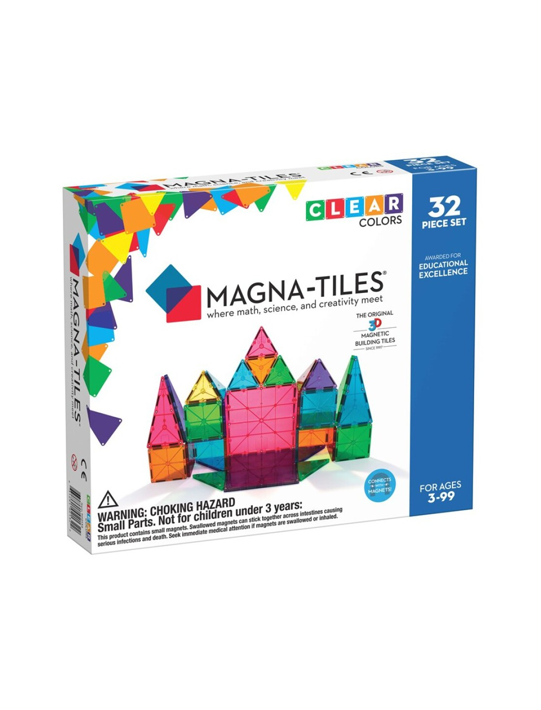 Magna-Tiles Clear Col 32 piezas