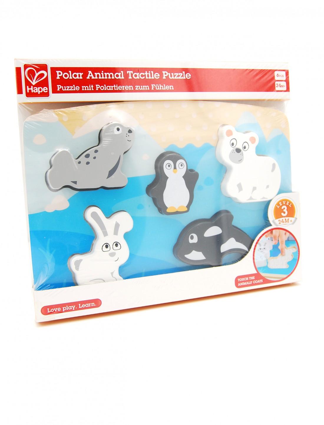 Puzzle animales polares y texturas. Hape