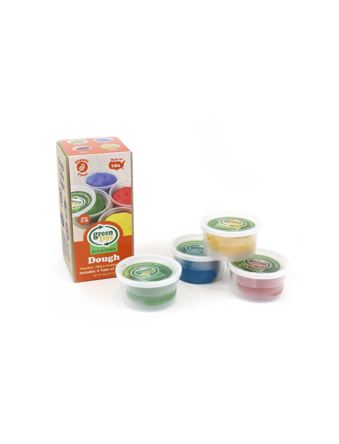 Pack 4 eco plastilina. Green Toys