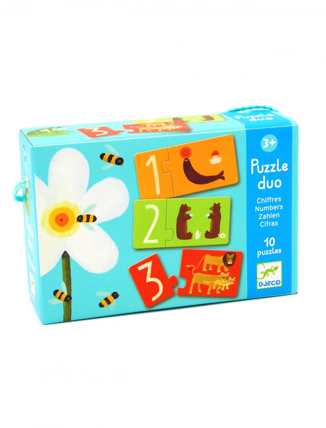 Puzzle duo números. Djeco
