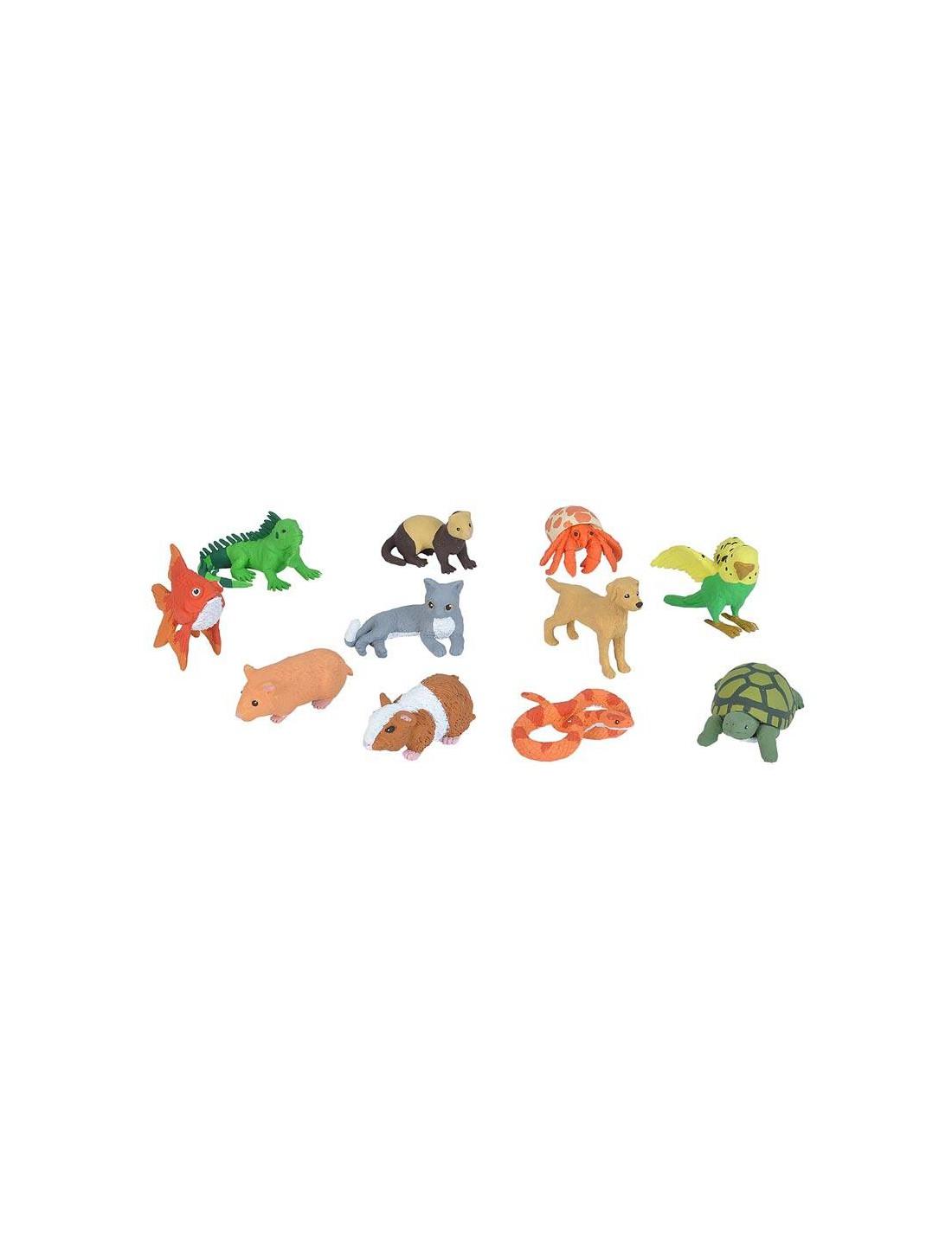 Tubo de figuras de mascotas. Wild...