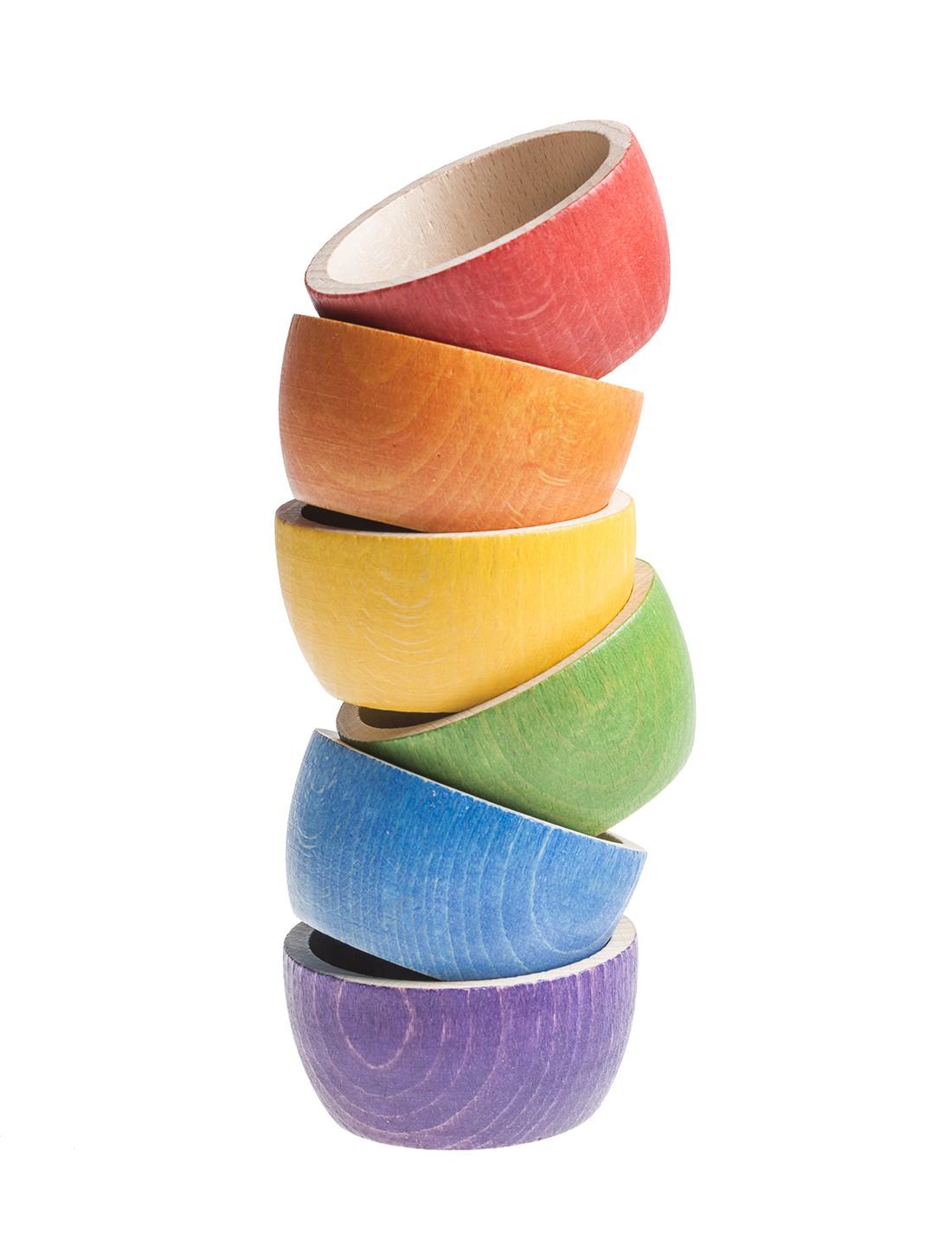 6 cuencos arcoíris. Grapat
