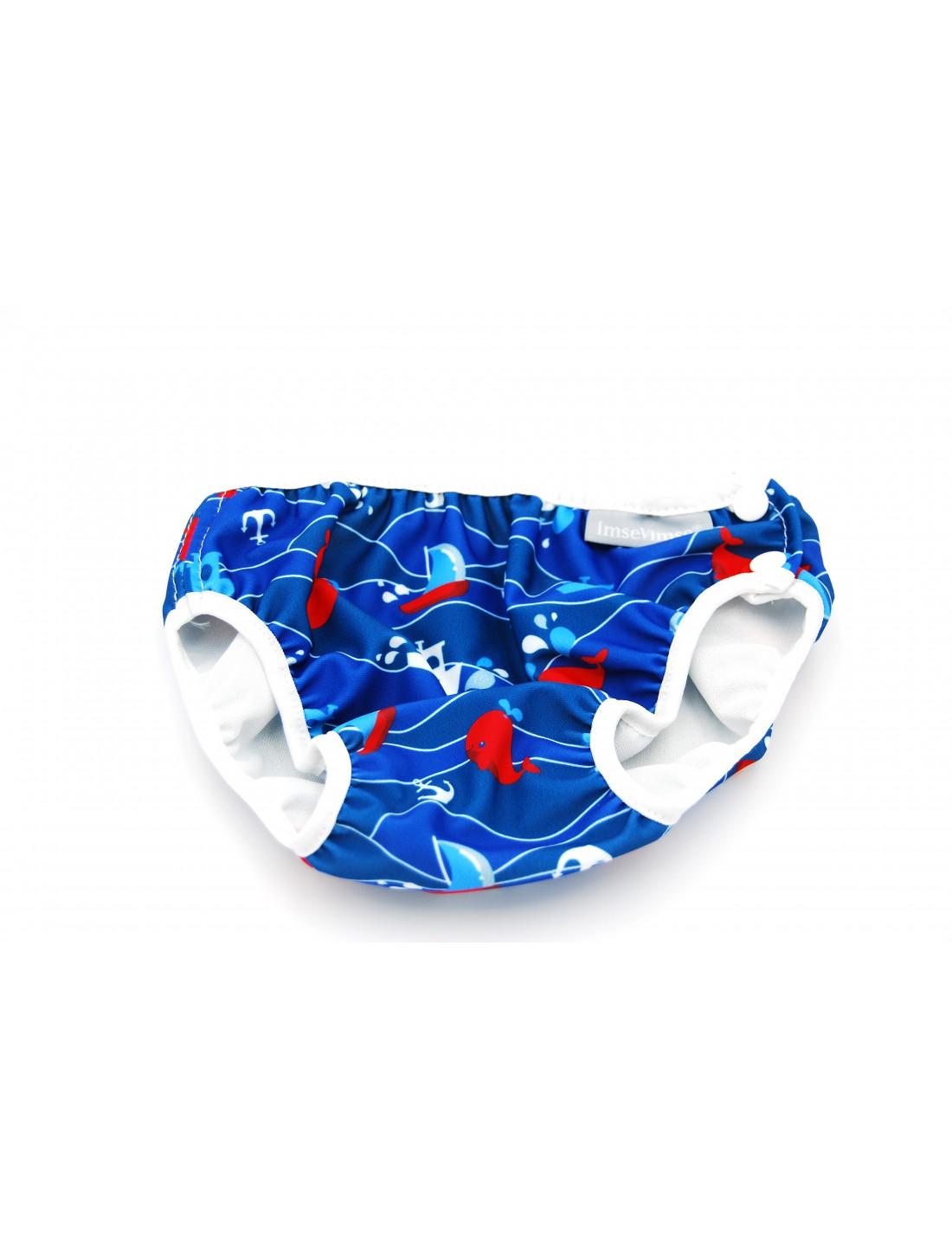 Bañador pañal Azul Ballenas & Barcos....