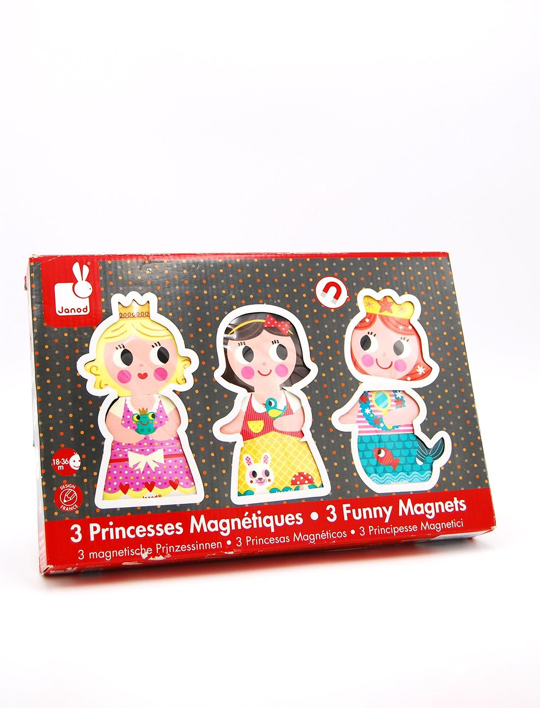 Magnéticos divertidos. Princesas. Janod