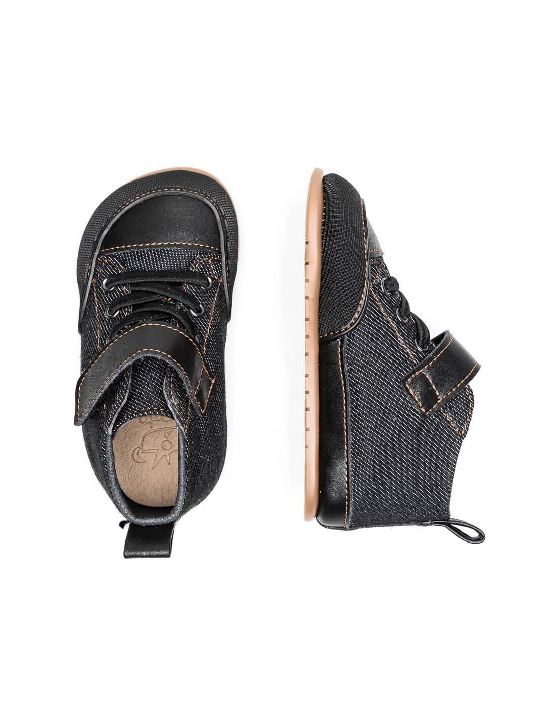 Botita Júcar Negro tejano. Zapato Feroz.