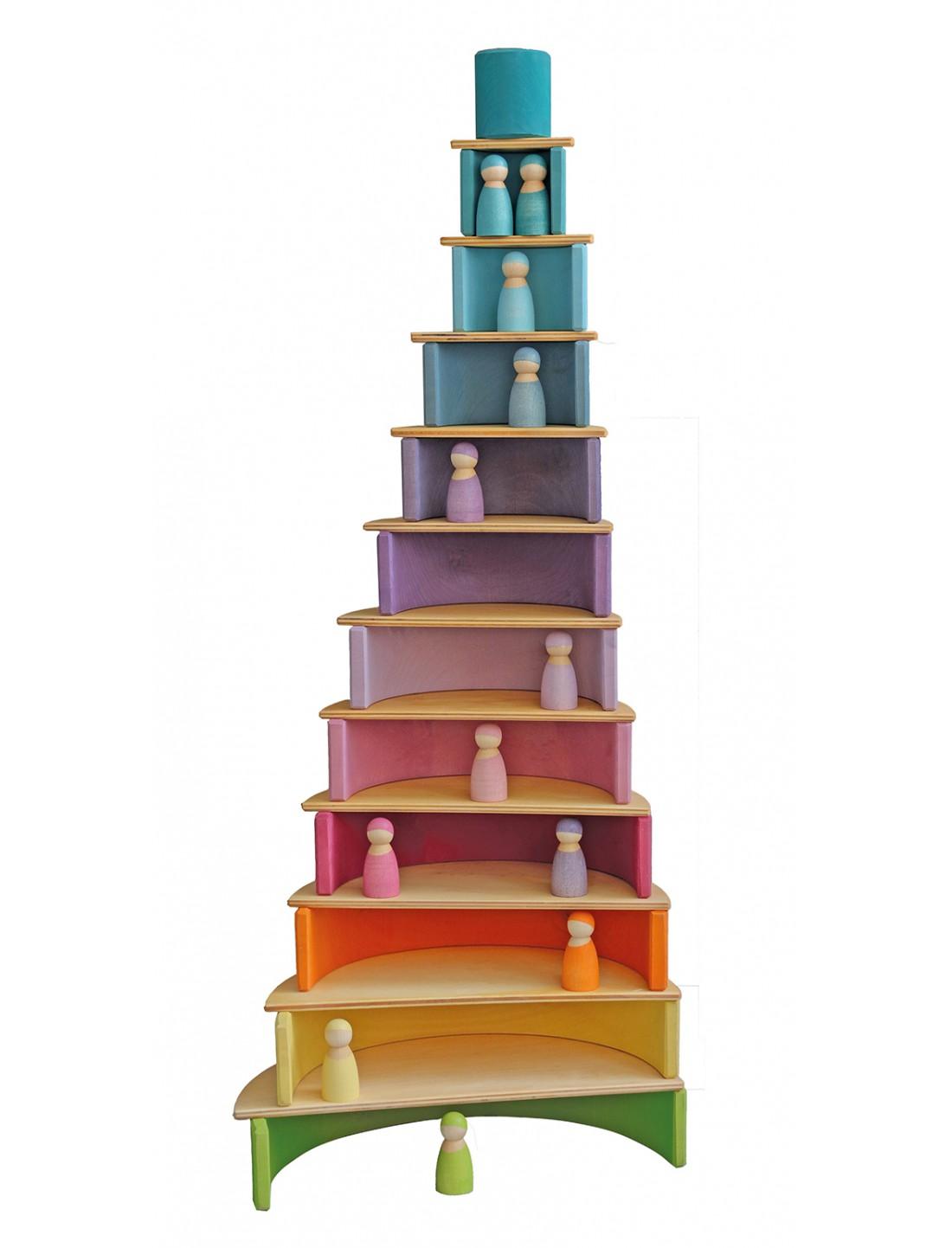 Arco iris grande colores pastel. Grimm´s