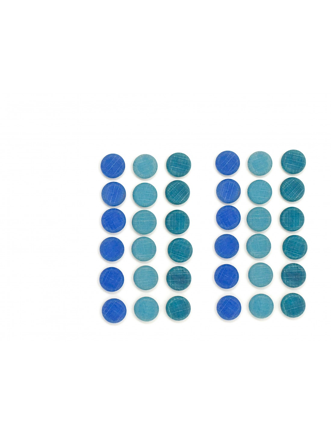 Mandala pequeñas monedas azules. Grapat