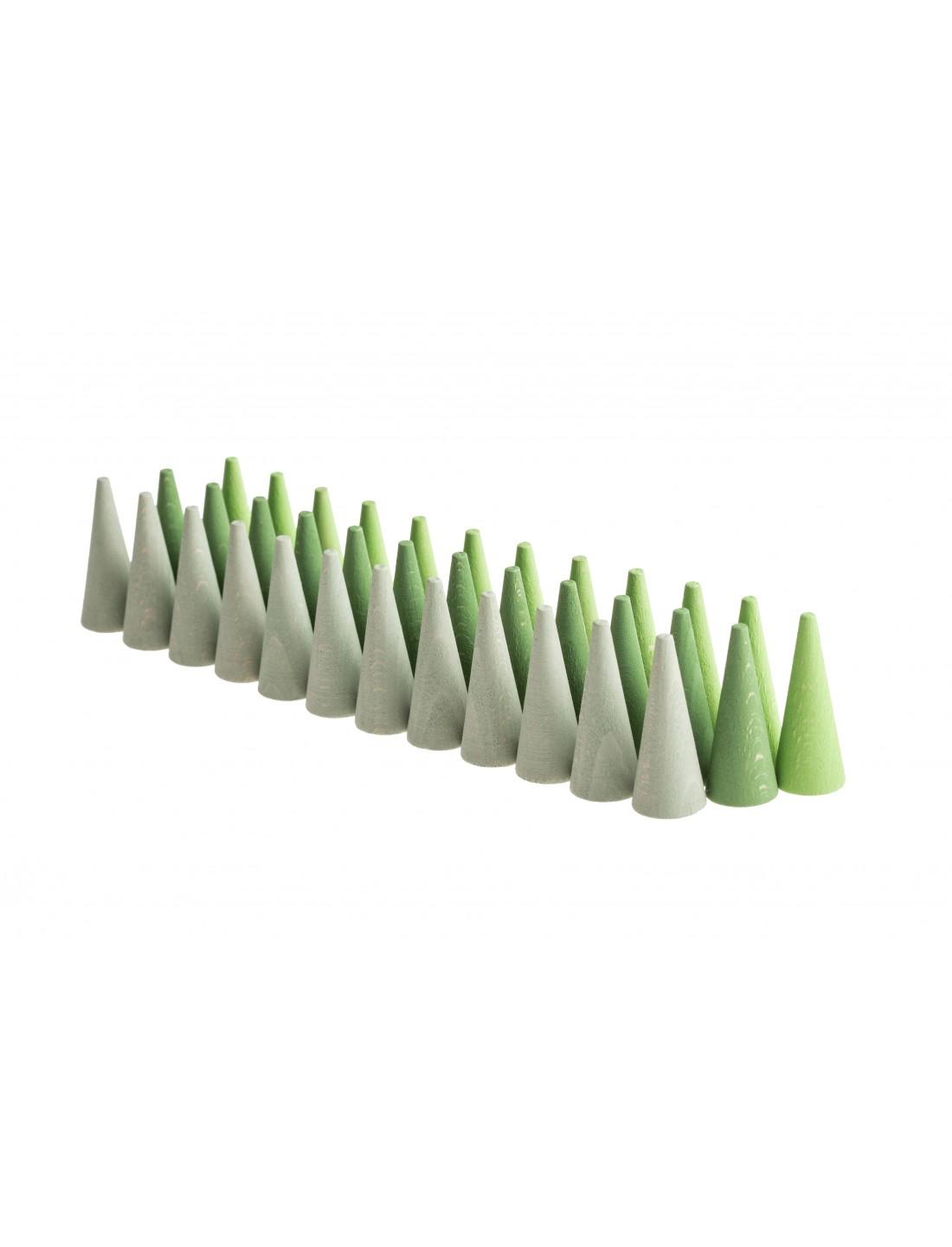 Mandala pequeños conos verdes. Grapat