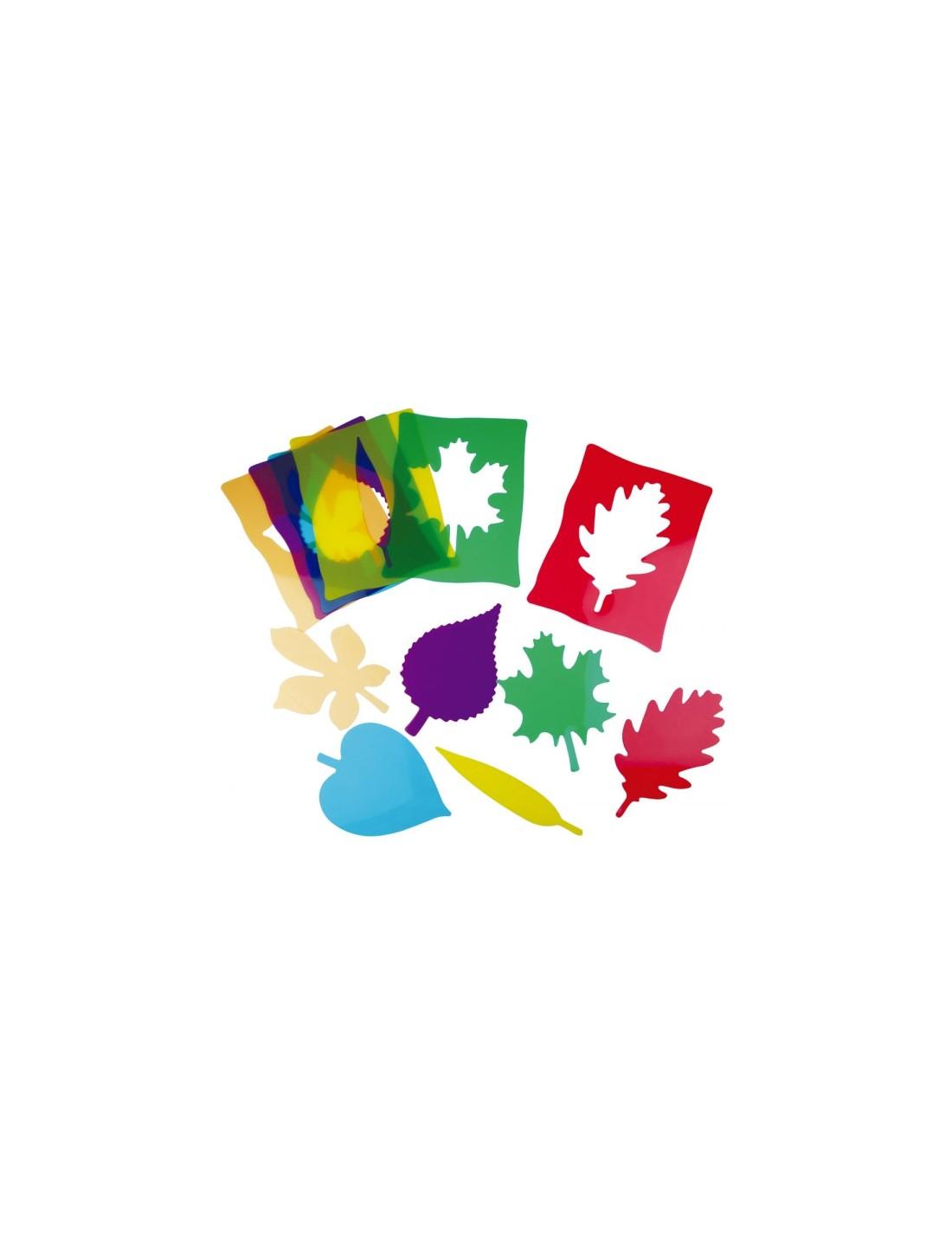 Siluetas de hojas Montessori. Henbea