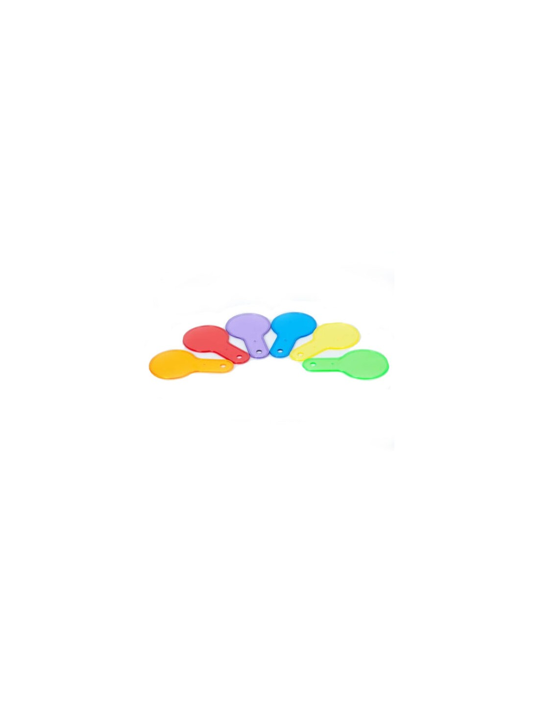Paletas traslúcidas de colores. Tickit