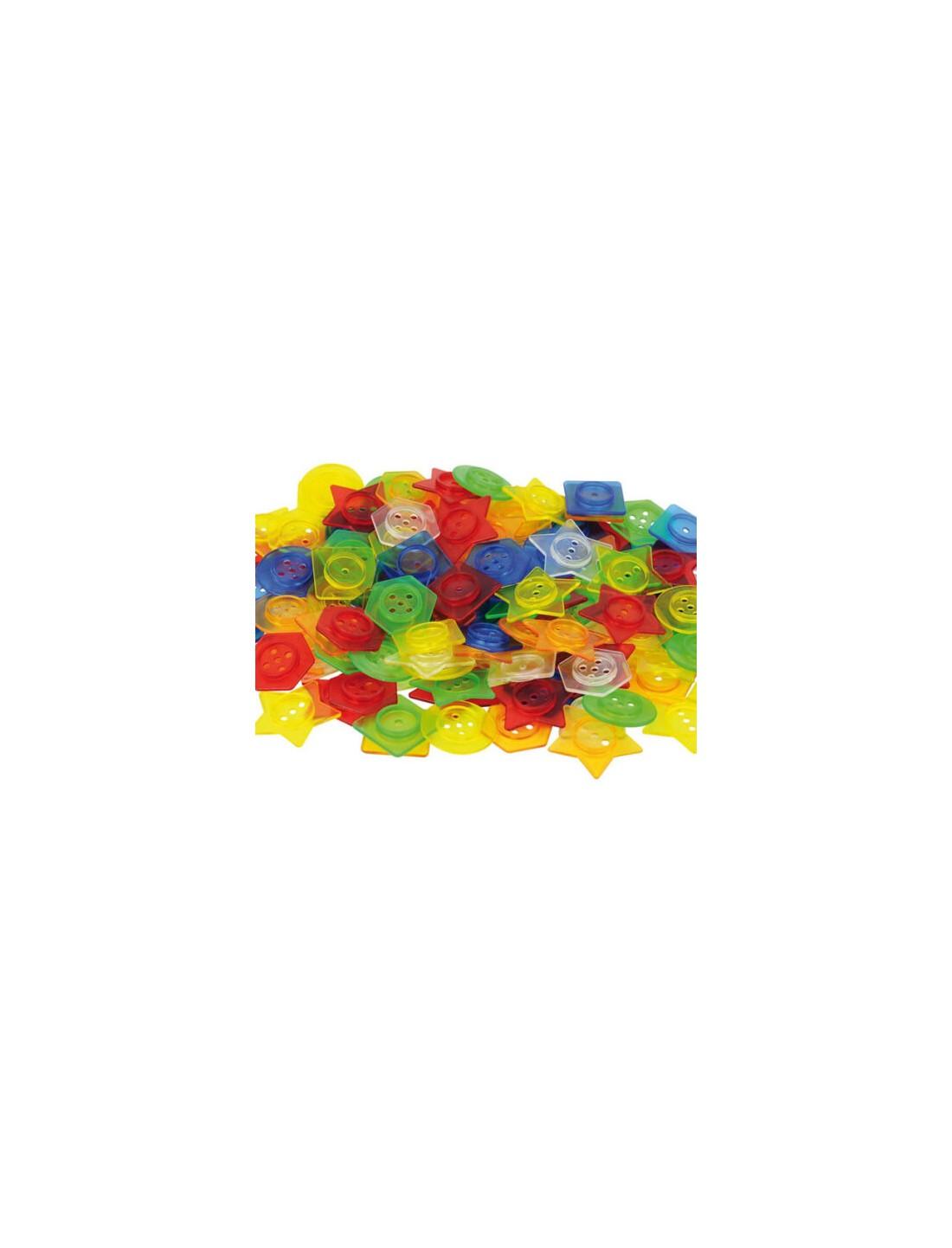 Botones plásticos traslúcidos. TickiT