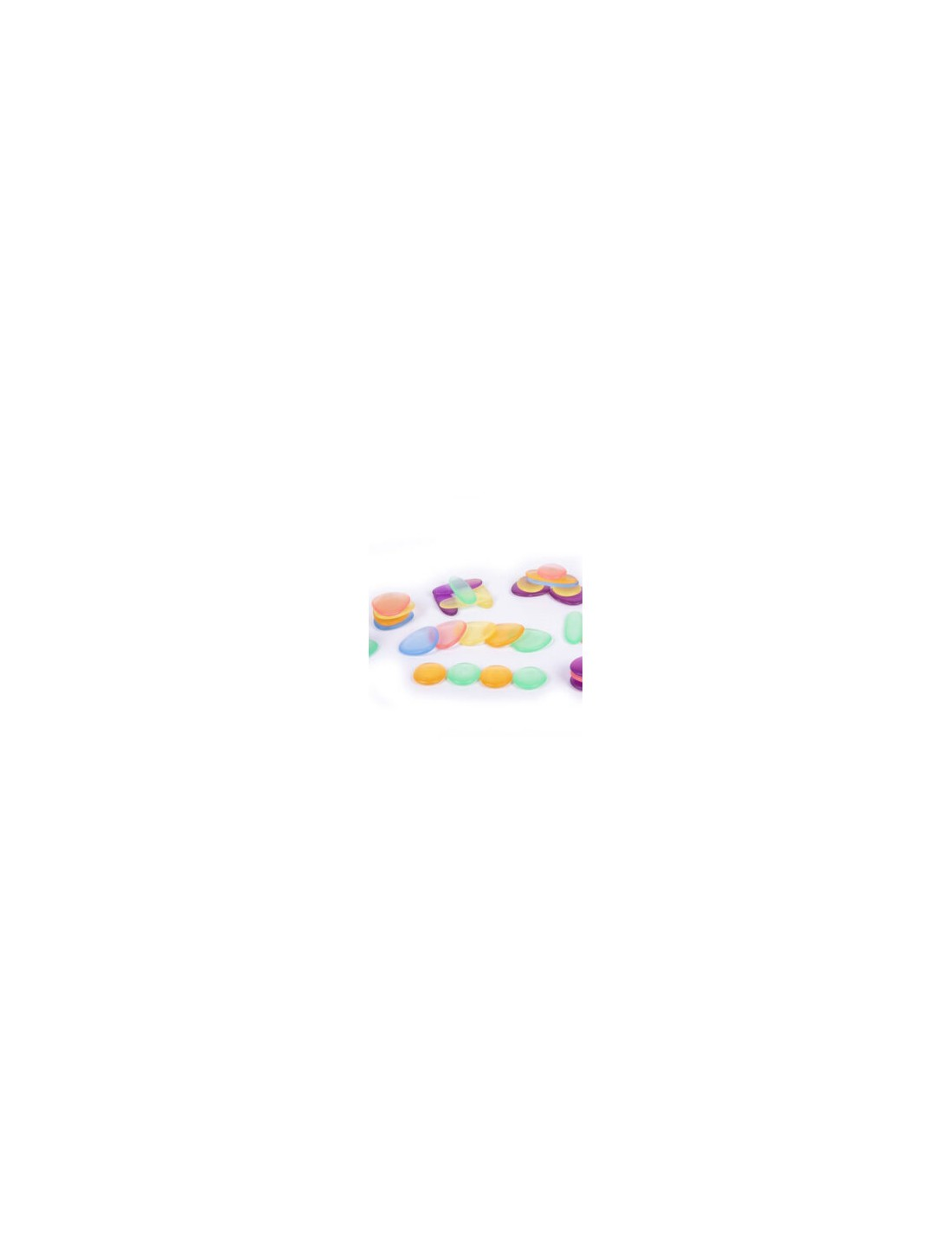 Piedras arco iris traslúcidas. TickiT