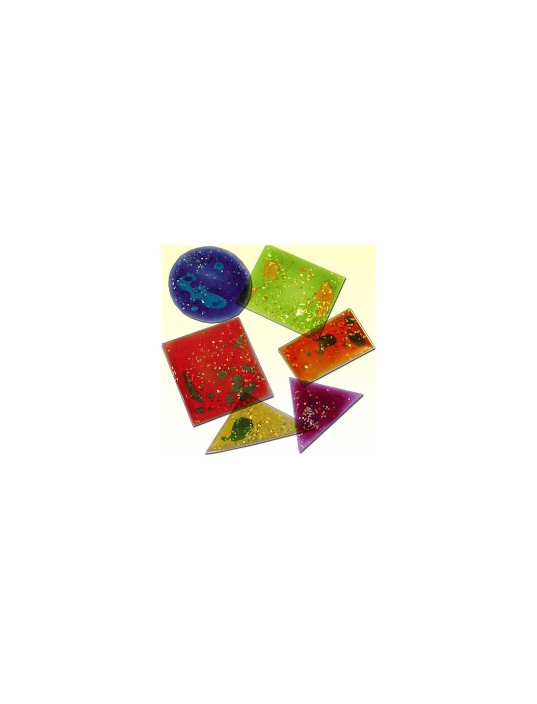 Formas geométricas con gel y brillo. TTS