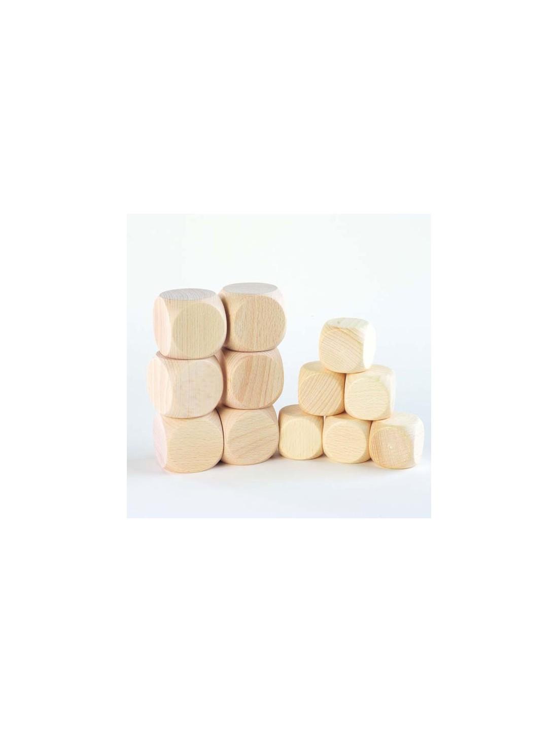 Cubos de madera natural. TickiT